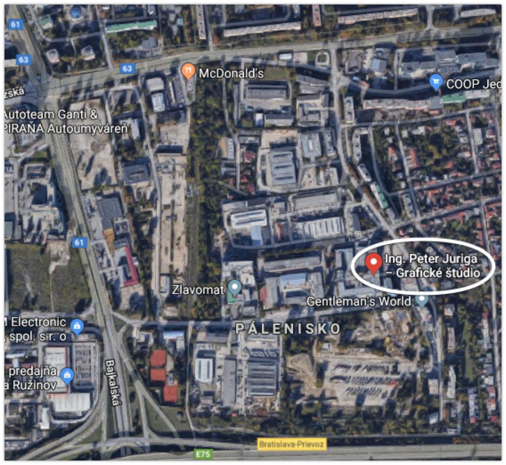 Miesto konania košikárskych kurzov Petra Jurigu v areáli BRS, a.s. na Hraničnej 18 v Bratislave.